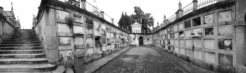 Black and white photograph of Cemitério de Agramonte by Gillian Hebblewhite 2018 ©
